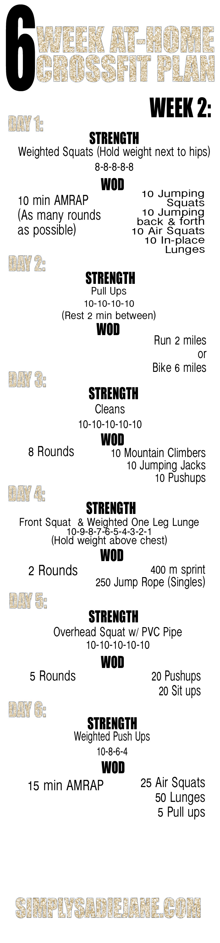 Crossfit Workout Schedule For Beginners Pdf - Most Popular Workout ...
