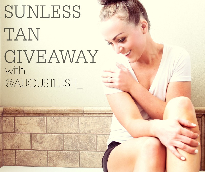 the BEST sunless tanner and A GIVEAWAY!