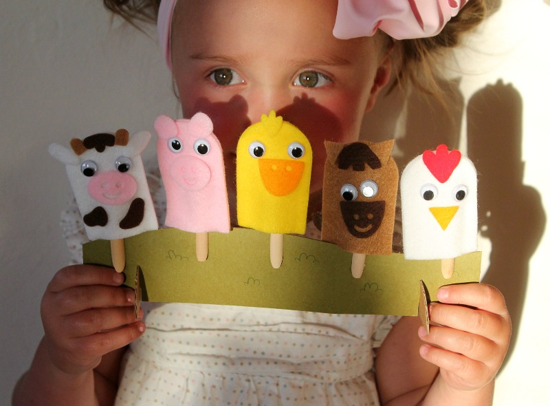 Felt puppets and summer activities! {Family/Tutorials}