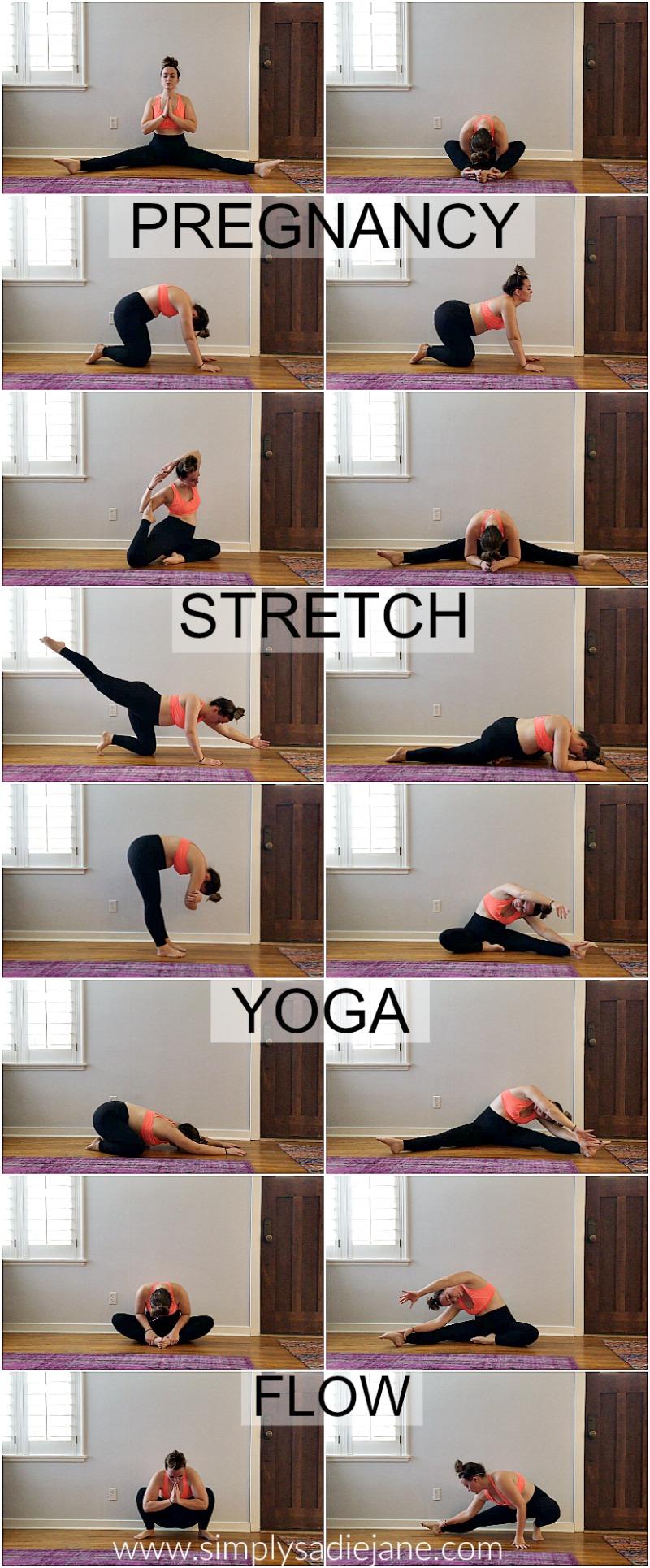 pregnancy stretching yoga flow