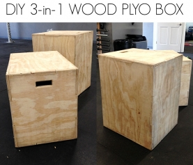 DIY 3-in-1 WOOD PLYO BOX for $35! {Fitness/Tutorials}