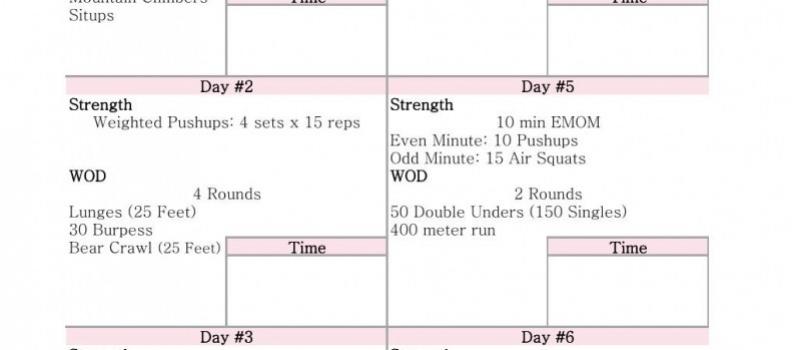 WEEK 4 #6weekstofab PRINTABLE { Fitness }