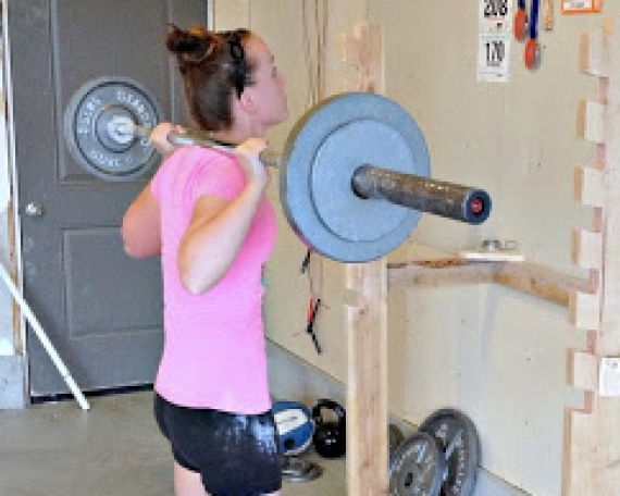 DIY Squatrack and Pull Up Bar