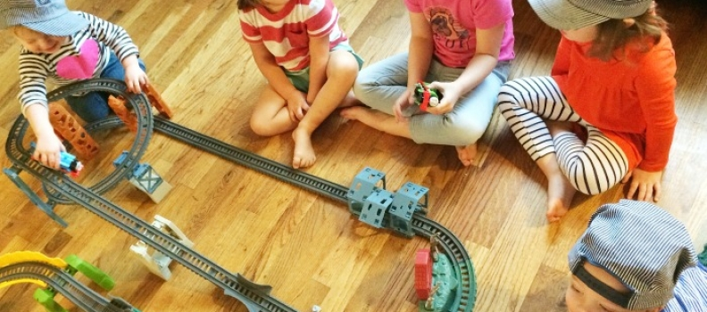 New friends in the new home calls for a Thomas the Train party. {Family}